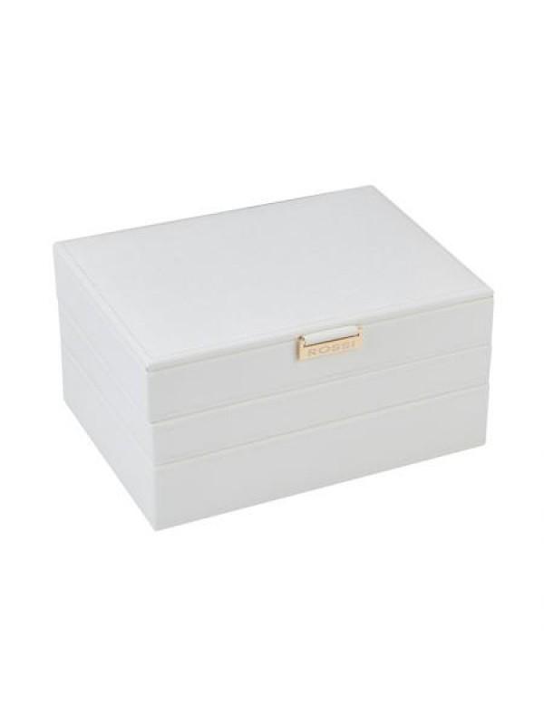 Кутия за бижута в бял цвят Rossi голяма