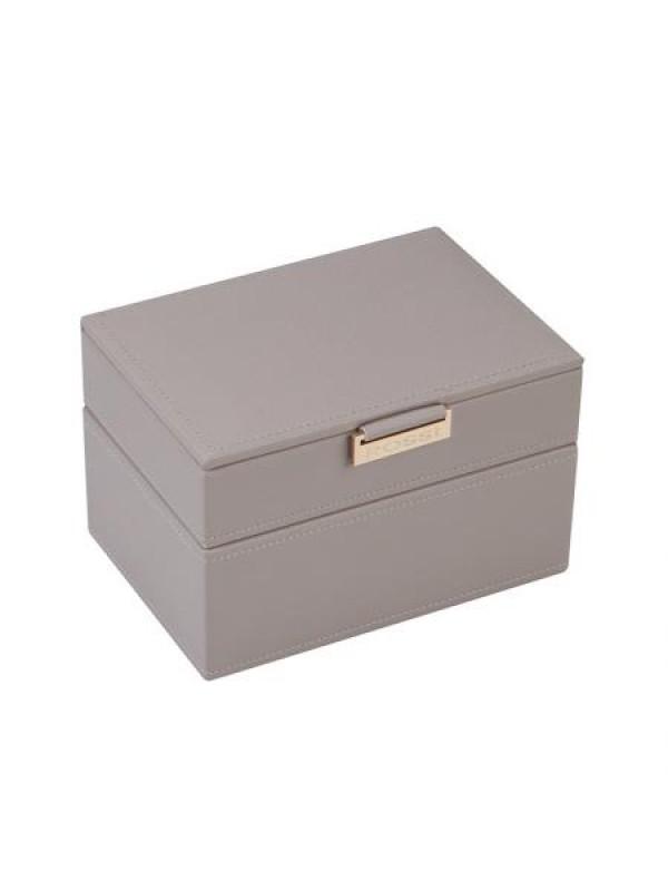 Кутия за бижута в сив цвят Rossi средна