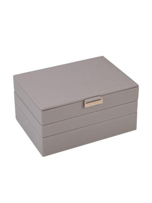 Кутия за бижута в сив цвят Rossi голяма