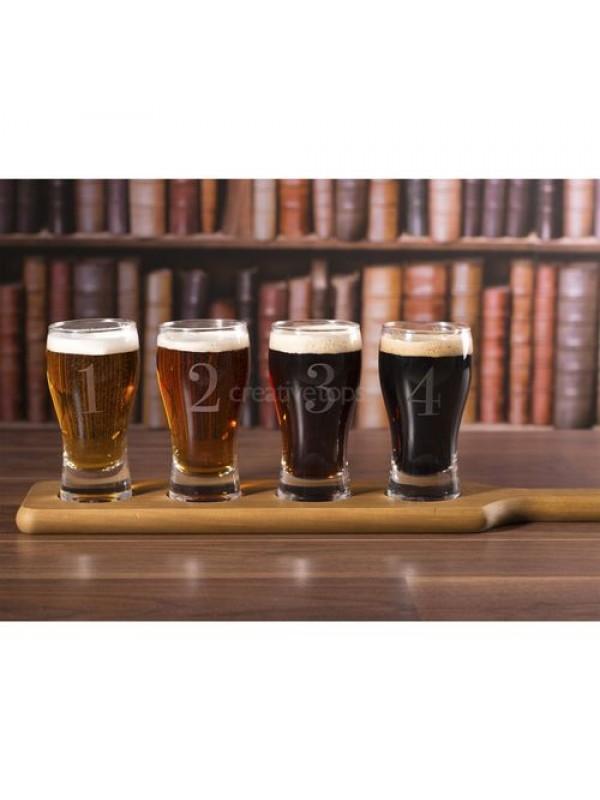 Комплект от 4 броя чаши за бира Earlstree & Co с включено гравиране