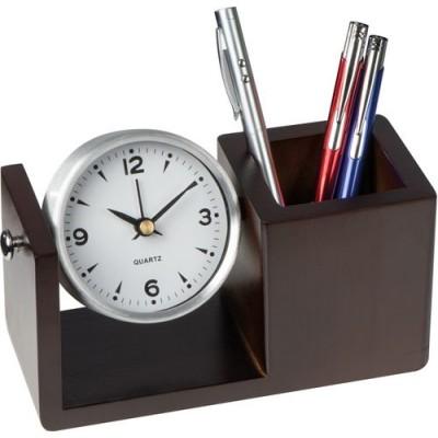 Настолен часовник с моливник