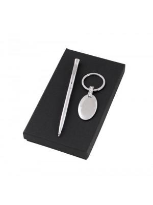 Дамски комплект от химикалка и ключодържател с включено гравиране