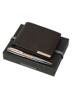 Луксозен комплект портфейл и химикалка