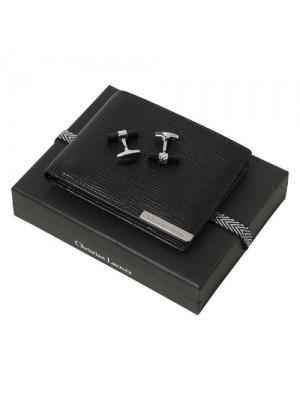 Луксозен комплект портфейл и ръкавели