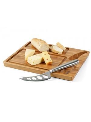 Дъска за сирена бамбук и нож с включено гравиране