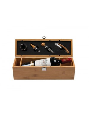 Луксозна дървена кутия за вино и включено гравиране