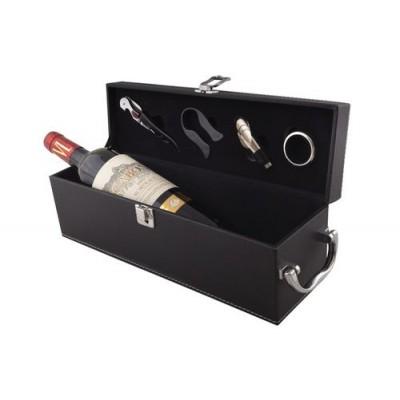 Луксозна кожена кутия за вино