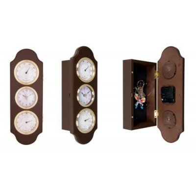 Часовник с термометър, хидрометър и кутия за ключове