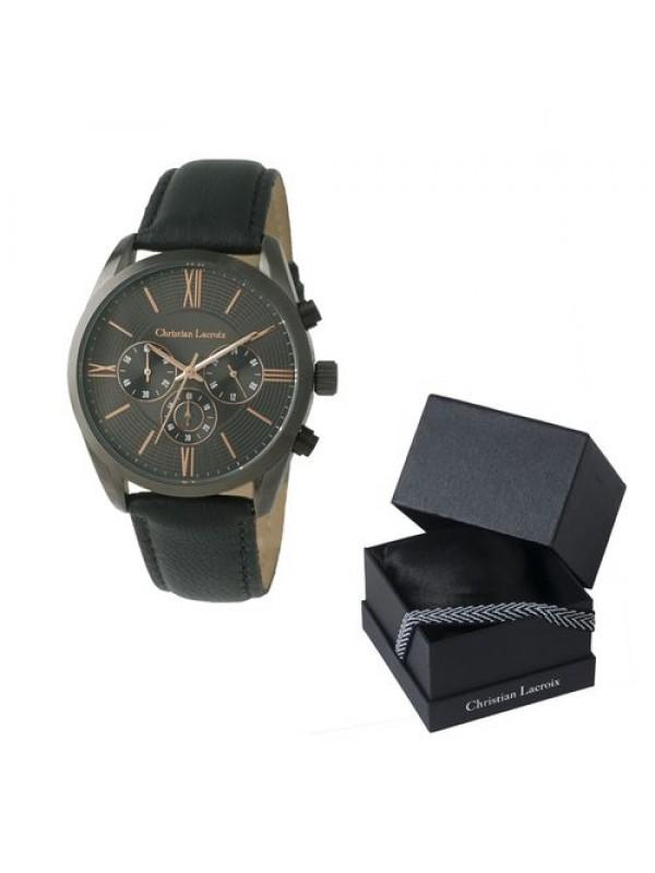 Мъжки часовник Chronograph Textus Leather Grey