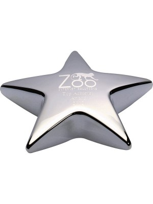 Сребърен трофей Star Desk Paperweight