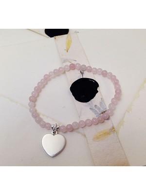 Детска перлена гривна Rosario - розова