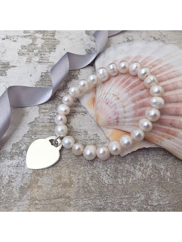 Гривна от сладководни перли Antigua с възможност за гравиране