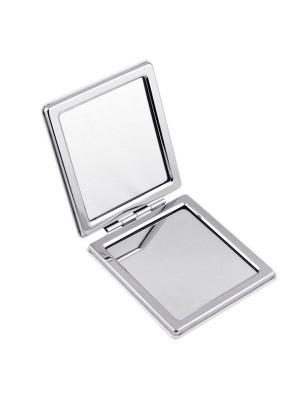 Компактно джобно огледало Classic - квадратно с възможност за гравиране