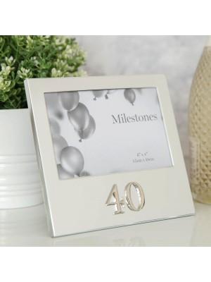 """Фоторамка рожден ден с 3D надпис """"40"""""""