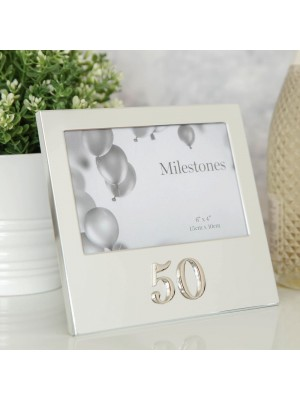 """Фоторамка рожден ден с 3D надпис """"50"""""""