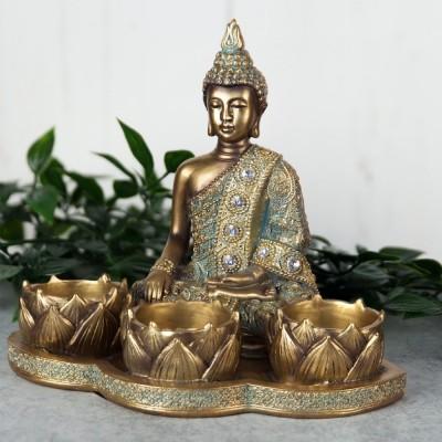 "Фигура на ""Буда"" за 3бр. чаени свещи."