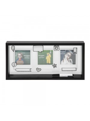 Персонализирана фоторамка за 3бр снимки с размер 10х10см. завършване на детска градина или начално училище с химикал.