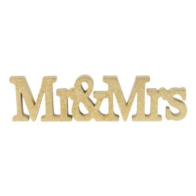"3D орнамент ""Mr & Mrs"""