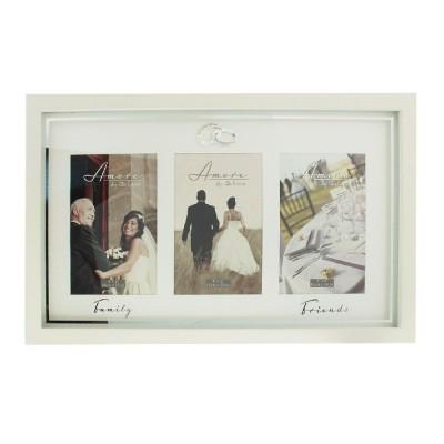 Луксозна тройна сватбена фоторамка за снимки размер 10с15см.