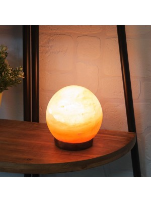 Лампа сфера от Хималайска каменна сол