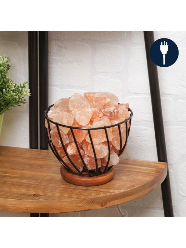 Лампа кошница от Хималайска каменна сол