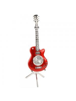 Миниатюрен часовник червена китара