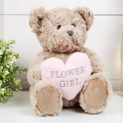 Плюшено мече със сърце Flower Girl