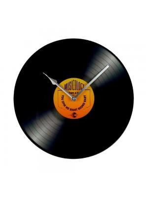Стъклен стенен часовник музикална плоча 30см