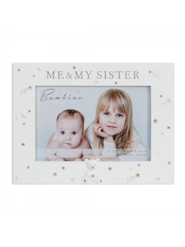 """Пейзажна фоторамка """"Аз и моята сестра"""" за снимка с размер 15 x 10см."""
