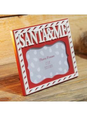 """Коледна фоторамка """"Дядо Коледа и Аз"""" за снимка с размер 15х10см"""