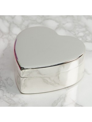 Сребърна кутия за бижута с формата на сърце Sophia