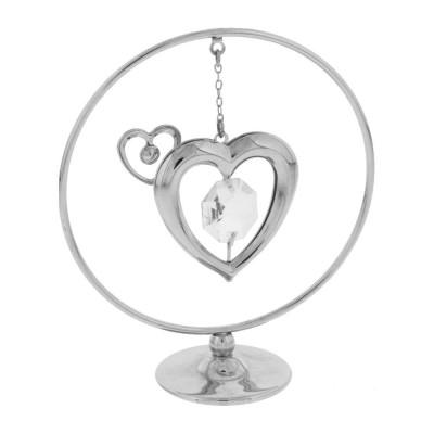 Красивa статуетка със сърца и кристали Swarovski