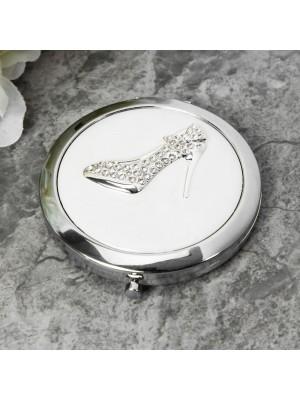 Компактно огледало с кристална обувка Sophia