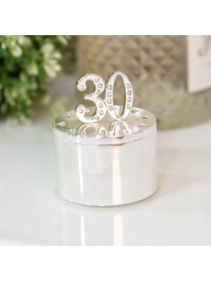 Кутия за бижута със сребърно покритие и кристали 30