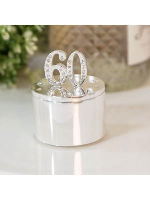 Кутия за бижута със сребърно покритие и кристали 60