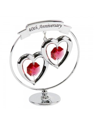 Красив подарък за 40-тата годишнина с кристали Swarovski