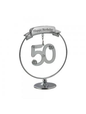 Красив подарък за 50-я рожден ден с кристали Swarovski