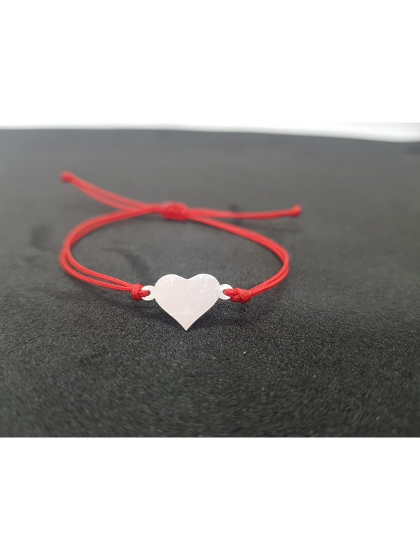 Сребърна лъжичка за бебе - Сърце