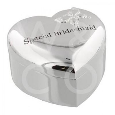 """Kутия за бижута със сребърно покритие """"специална шаферка"""""""