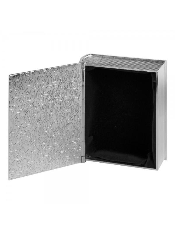 Кутия за кръщене със сребърно покритие и плочка за гравиране