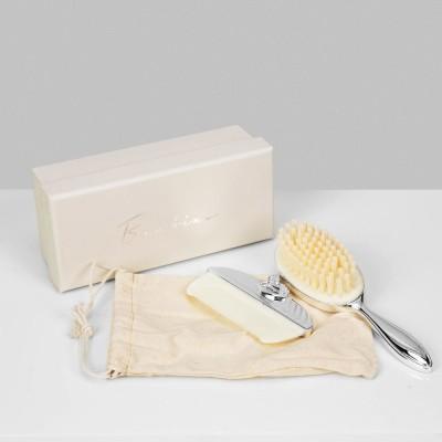 Четка за коса и гребен със сребърно покритие
