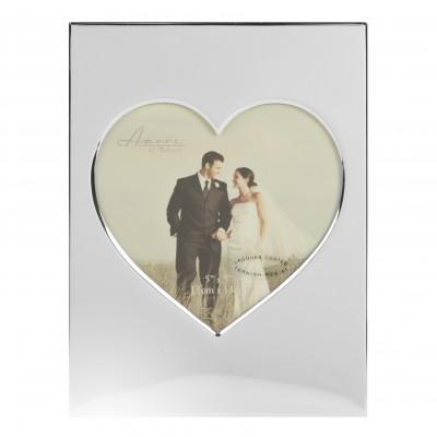 """Сватбена фоторамка във формата на сърце 5"""" x 5"""" (13 x 13cm);"""